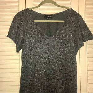 4/20 Silver Glittery Tunic/Mini Dress